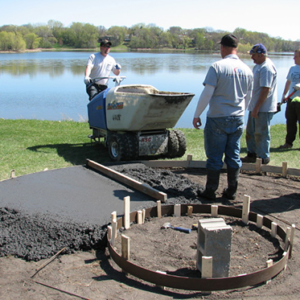 Residential Concrete Fire Pit construction - DaycoGeneral.com
