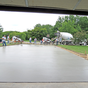 Wet New Concrete Driveway - DaycoGeneral.com