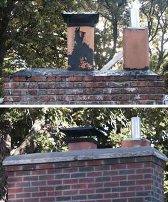 image - Brick Chimney Repair Minneapolis MN (Before & After)